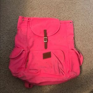 Victoria's Secret PINK canvas drawstring backpack